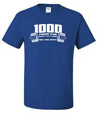 1000 lb CLUB 50/50 T-shirt - Powerlifting Gym Bodybuilding Fitness Strongman