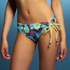 Freya Moonflower Classic Side Tie Bikini Brief 9918 Blue Floral Oasis Swim NEW