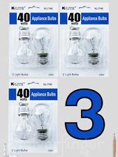 4—6 pcs Appliance Light Bulbs Refrigerator Freezer Oven Microwave Fridge A15 40W