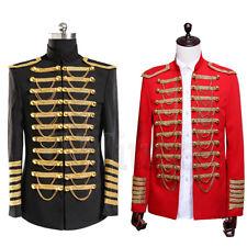 Giacca da uomo USSARO ARTIGLIERIA Tunica Top Uniforme Militare batterista Steampunk cappotto