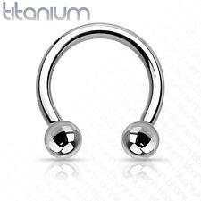 Horseshoe Ring Internally Threaded Grade 23 Solid Titanium Choose 14g 16g #TIH