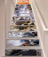 3D Stone wilderness Stair Risers Decoration Photo Mural Vinyl Decal Wallpaper AU