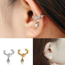 Ear Cuff COOL Fashion Wrap Rhinestone cartílago Clip en pendiente no piercing