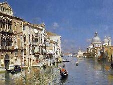 GRAND CANAL VENICE R. Santoro boat Tile Mural Kitchen Backsplash Marble Ceramic