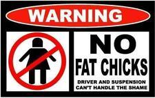 FUNNY cartello di avvertimento nessun grasso PULCINI sospensione Autoadesivo Autoadesivo