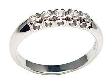 Anillo compromiso Riviere de oro blanco 18 ct con diamante 0.25 talla brillante