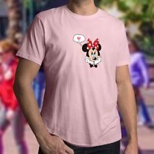 Minnie Mouse Cute Love Heart Men Women Unisex Tee T-Shirt Short Sleeve Shirts