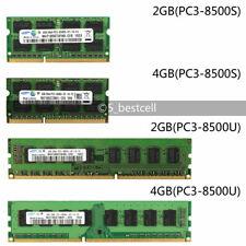 2GB/4GB PC3-8500 DDR3 1066MHz 204/240pin Desktop Laptop DIMM SODIMM memory Ram