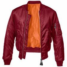 Élimée maple homme baseball varstiy col veste aviateur MA1 léger manteau