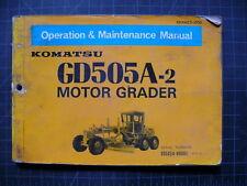 Komatsu GD505A Grader Operation/Maintenance Shop Manual