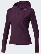 ADIDAS Response Soft Shield Reflective Running Jacket Red Night Maroon Womens S