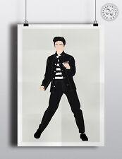 Elvis Presley (emprisonnées Rock) - Minimaliste Band Poster Silhouette musique minimale