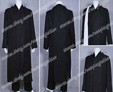 TRON Legacy Kevin Flynn Clu Black Uniform Kimono Cosplay Party Costume Halloween