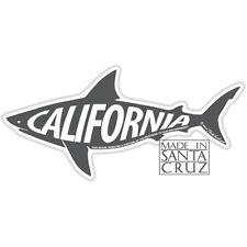 Santa Cruz or California Shark Sticker - Bumpersticker Vinyl Decal Tim Ward