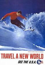 84629 Vintage 1962 Skiing Aspen Colorado See USA Decor WALL PRINT POSTER CA