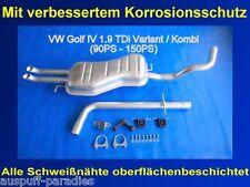 Abgasanlage Auspuff Endtopf VW Golf IV 1.9 TDI Variant / Kombi (Typ 1J5) + Kit