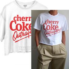 7e28cdf0b5344 Junk Food Cherry Coke Outrageous! Coca cola Cropped T-shirt Runs Large Easy  Fit