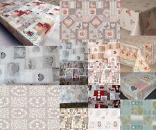 Luxe Coeurs Parti traditionnel Pvc Vinyle Table Chiffon Protecteur Plain Imprimé