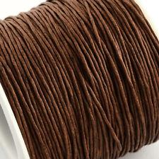 Cordón de Algodón Encerado Hilo 1mm Marrón De Silla De Montar Para Pulsera Collar de cuentas Encordado