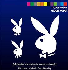 3 X PEGATINAS -STICKER- VINILO - PACK - Playboy - Pegatina - Aufkleber Vinyl