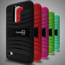 For LG K7 / Tribute 5 Case - Hybrid Heavy Duty Tough Hard Phone Kickstand Cover