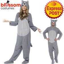 CA382 Animal Wolf Mens Ladies Fancy Dress Zoo Jumpsuit Halloween Book Week Funny