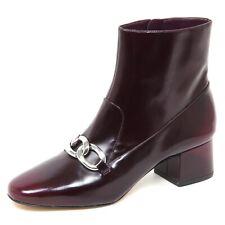 E0416 tronchetto donna bordeaux MICHAEL KORS VANESSA ankle boot shoe woman