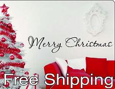MERRY CHRISTMAS wall vinyl sticker inspirational holiday art home decor FREESHIP