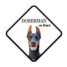 Doberman On Board Vinyl Car Van Sticker or Sign and Sucker Dog Pet Lover