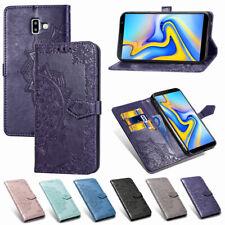 For Samsung J8 2018 J4 J6 Plus A7 Wallet Flip Leather Card Slot Stand Case Cover