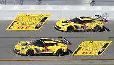 Calcas Chevrolet Corvette C7R Daytona 2018 1:32 1:24 1:43 1:18 64 87 C7 R decals