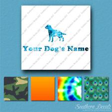 Custom Labrador Retriever Dog Name Decal Sticker - 25 Printed Fills - 6 Fonts