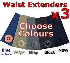Falda Pantalón Jeans Botones Cintura Expansores Extensor 3 Pack ganancia de peso Embarazo