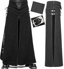 Jupe longue fendue gothique punk warrior armure sangle jacquard PunkRave homme