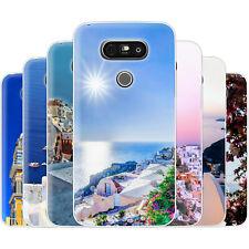 dessana Santorini TPU Silikon Schutz Hülle Case Handy Tasche Cover für LG