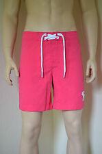 Abercrombie & Fitch Morgan Mountain Swim Board Shorts Pink M RRP £54