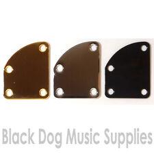 Asimmetrico curvo per chitarra collo JOINT Piastra in oro, nero o cromato viti inc