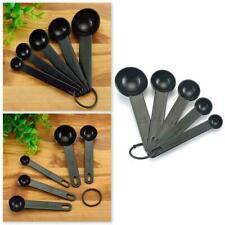 5Pcs/Set Plastic Measuring Spoon Cup Kitchen Baking Measure Coffee U8N0