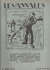 LES ANNALES POLITIQUES 1929 n° 2339 -P. Benoit -A.Dumas