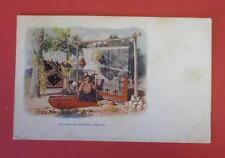 Navajo Blanket Weaver 1904 Copyright Color Postcard