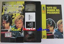 film VHS TUTTI GLI UOMINI DEL PRESIDENTE Redford CUSTODIA CARTONATA (F6*) no dvd