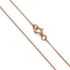 """Fine 9ct Rose Gold Diamond Cut Curb Chain 16 18 """" Inches 375 0.5mm Curb"""