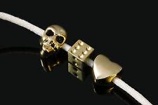European Bead 2 Stk. Element Anhänger hellgoldfarben Armband Zwischenteil, P-45