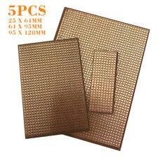 5pcs PCB Stripboard Strip Printed Circuit Board Prototype Track Breadboard uk