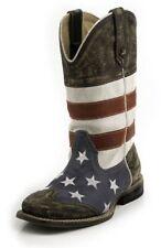 New listing Roper Western Boots Boys Kids Usa Flag Blue 09-018-0903-0103 Bu