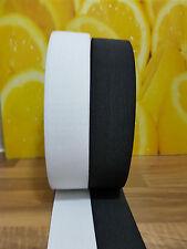 Premium Quality Flat Woven Elastic Black or White  3.5CM / 35 MM  Wide