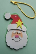 1 Simple Santa Ornament  Craft Kit Christmas Self- Adhesive GREAT Fun!