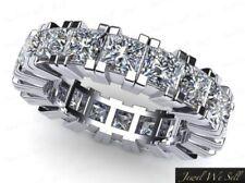 3.75Ct Diamante Talla Princesa Aniversario Eternidad Anillo de Banda Platino 950