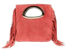 Genuine Suede Real Italian Fringe Tassels Handbag Handle Handbag Designer