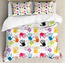 Kids Duvet Cover Set with Pillow Shams Colorful Cute Children Print